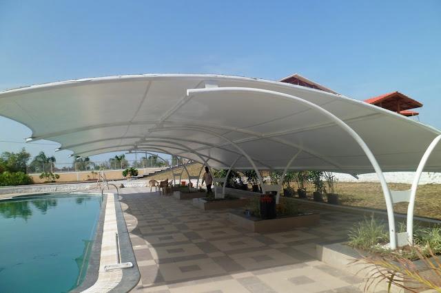 membrane tenda kolam renang