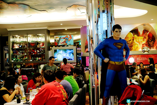 bowdywanders.com Singapore Travel Blog Philippines Photo :: Singapore :: DC Comics Superheroes Café: Every Hero's Cafe Kryptonite