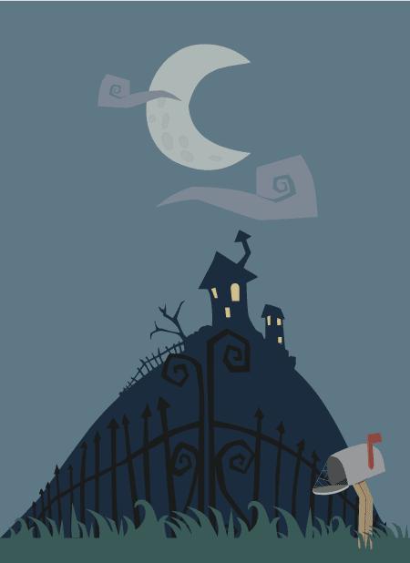 Halloween la muerte con guadaña y cogulla roja