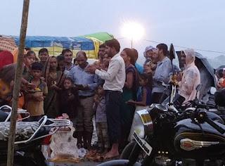 संजय जलाशय पर रही भारी भीड़, किया गणेश विसर्जन