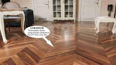 motif lantai kayu chevron