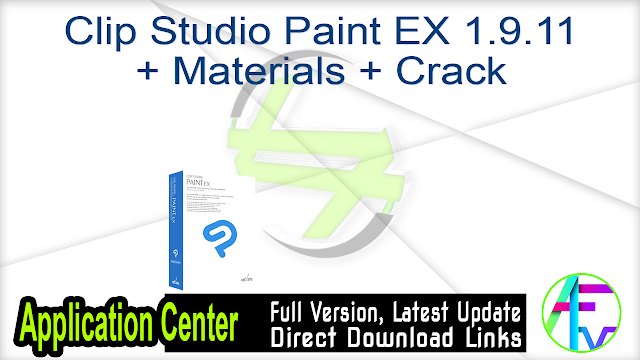 Clip Studio Paint EX 1.9.11 + Materials + Crack