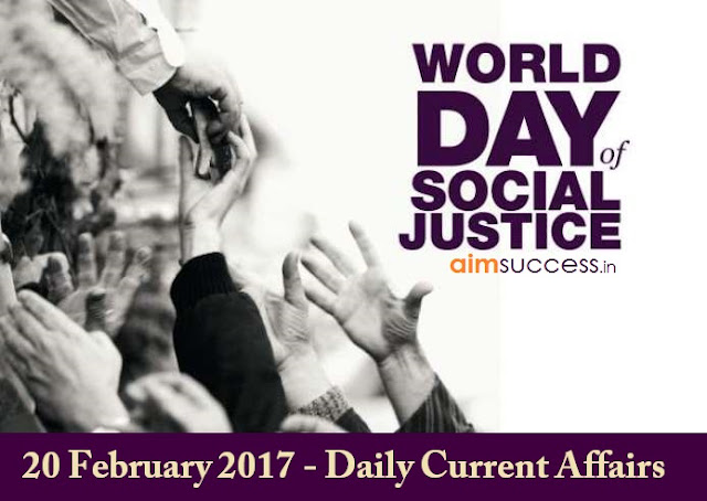 20 February 2017 - Daily Current Affairs