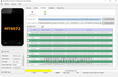 proses flashing sp flashtool
