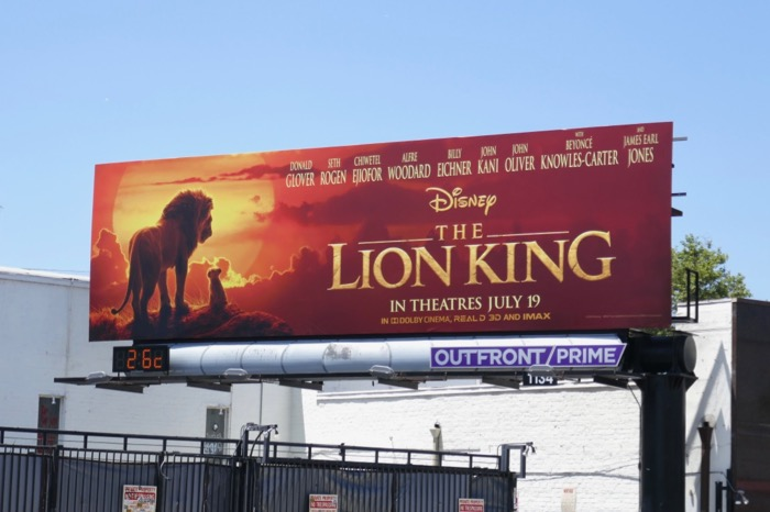 Lion King 2019 movie billboard