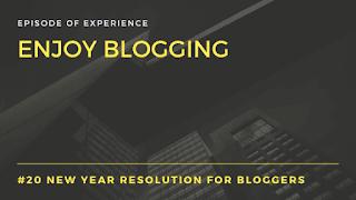 Enjoy blogging