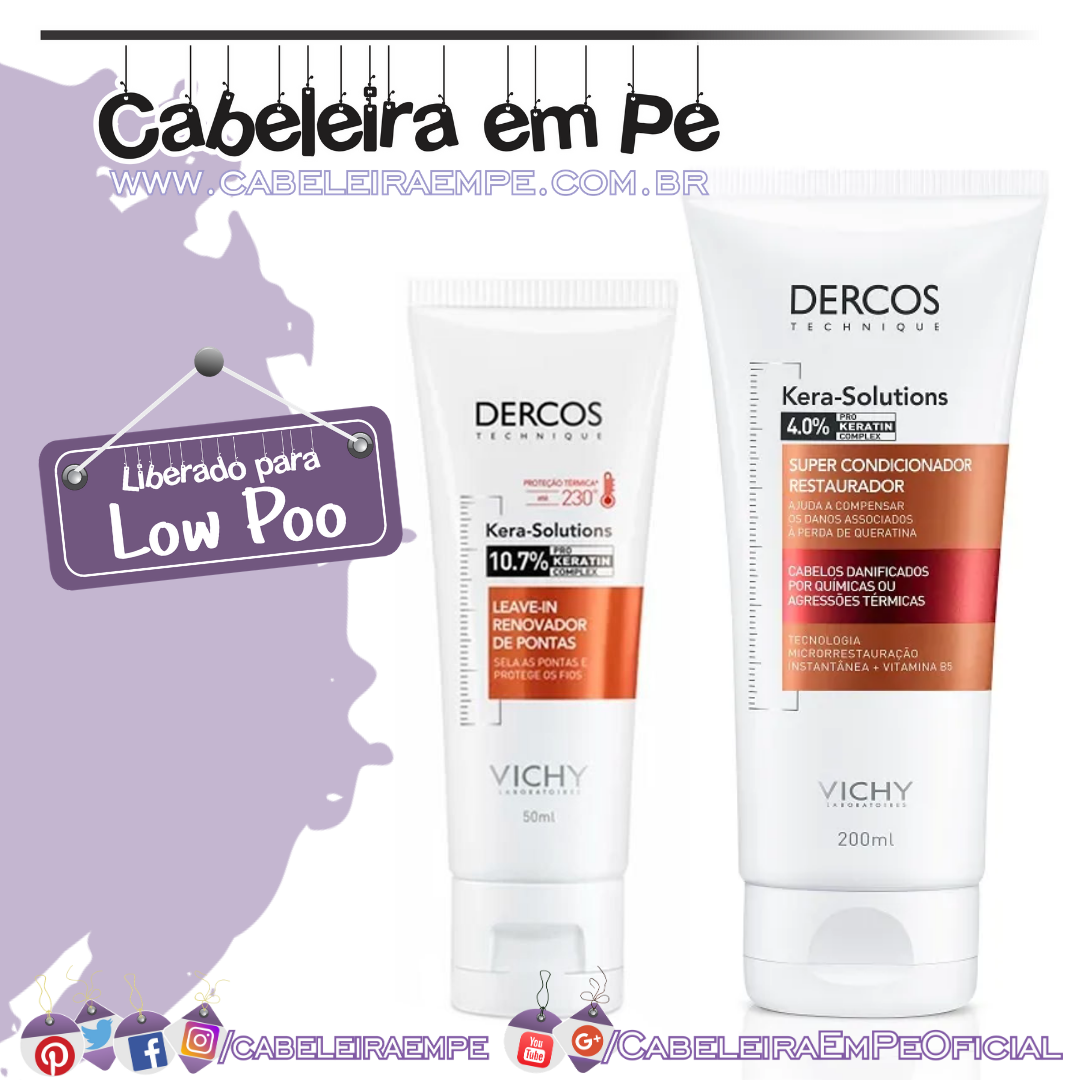 Condicionador e Leave in - Dercos Vichy (Low Poo)