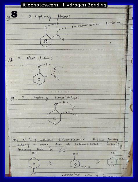 hydrogen bonding8