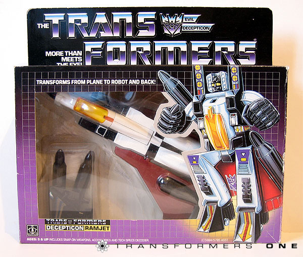 square one another hasbro g1 orange canopy ramjet