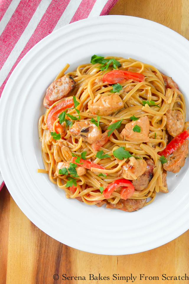 One Skillet Cajun Chicken and Pasta