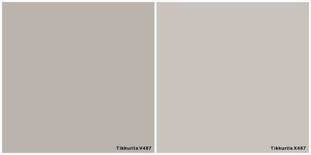 makuuhuone maali harmaa seinä coloria sisustus valamo laasti