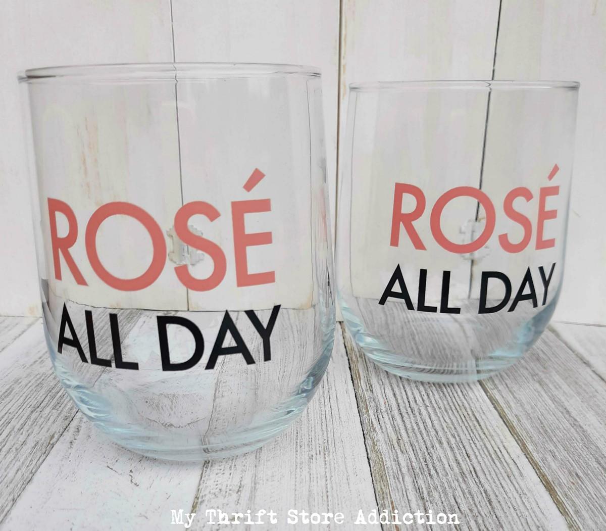 dollar store wine glasses