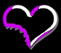 Coração cortado - Criação Blog PNG-Free