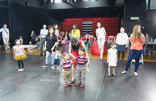 The children were encouraged to dance along