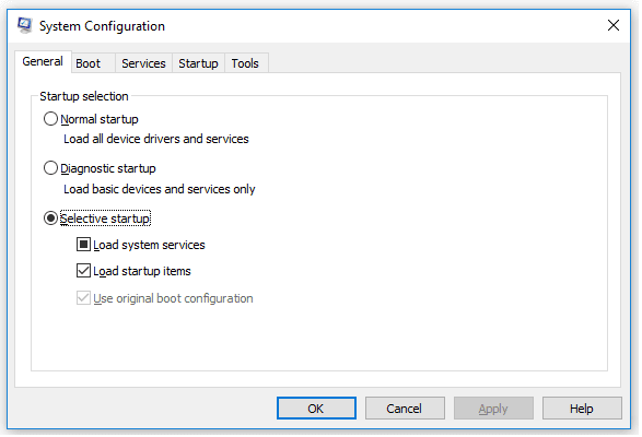 MSConfig Windows