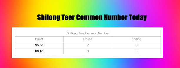 Shilong Teer Common Number