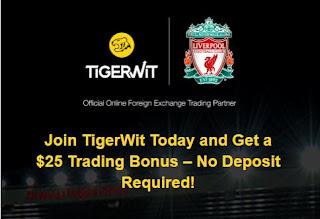TigerWit $25 Forex No Deposit Bonus