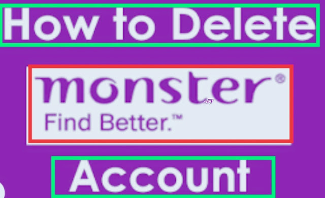 how to delete monster account