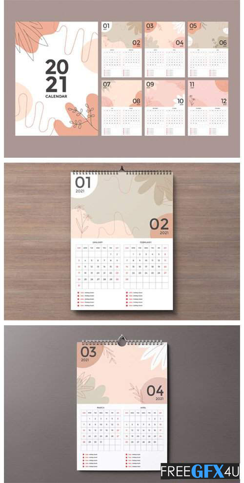 Wall Calendar 2021 Design