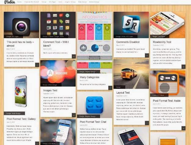 Pinbin WordPress theme