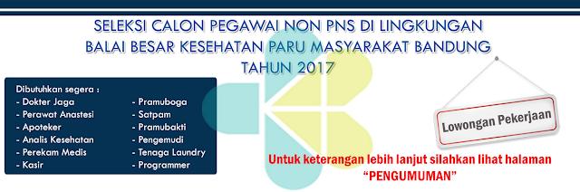Lowongan Kerja Balai Besar Kesehatan Paru Masyarakat (BBKPM) Bandung