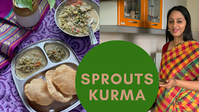 Sprouts Kurma | How to make Sprouts Kurma