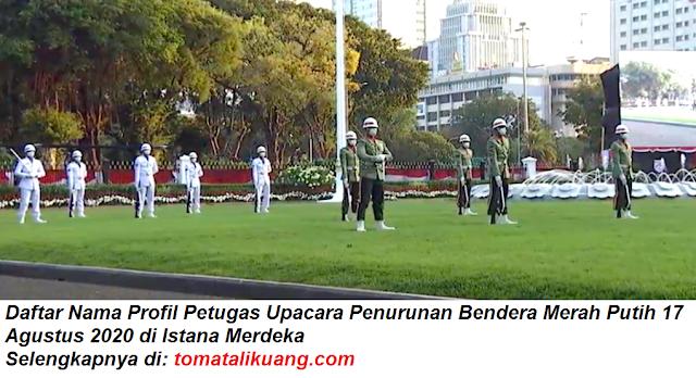 Daftar Nama Profil Tim Merauke Petugas Upacara Penurunan Bendera Merah Putih 17 Agustus 2020 di Istana Merdeka tomatalikuang.com