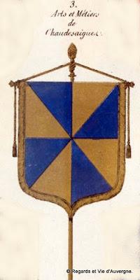 Bannière des Arts et Métiers d'Auvergne Chaudesaigues
