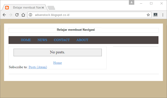 Navigasi Template Blog Seo Fast Load