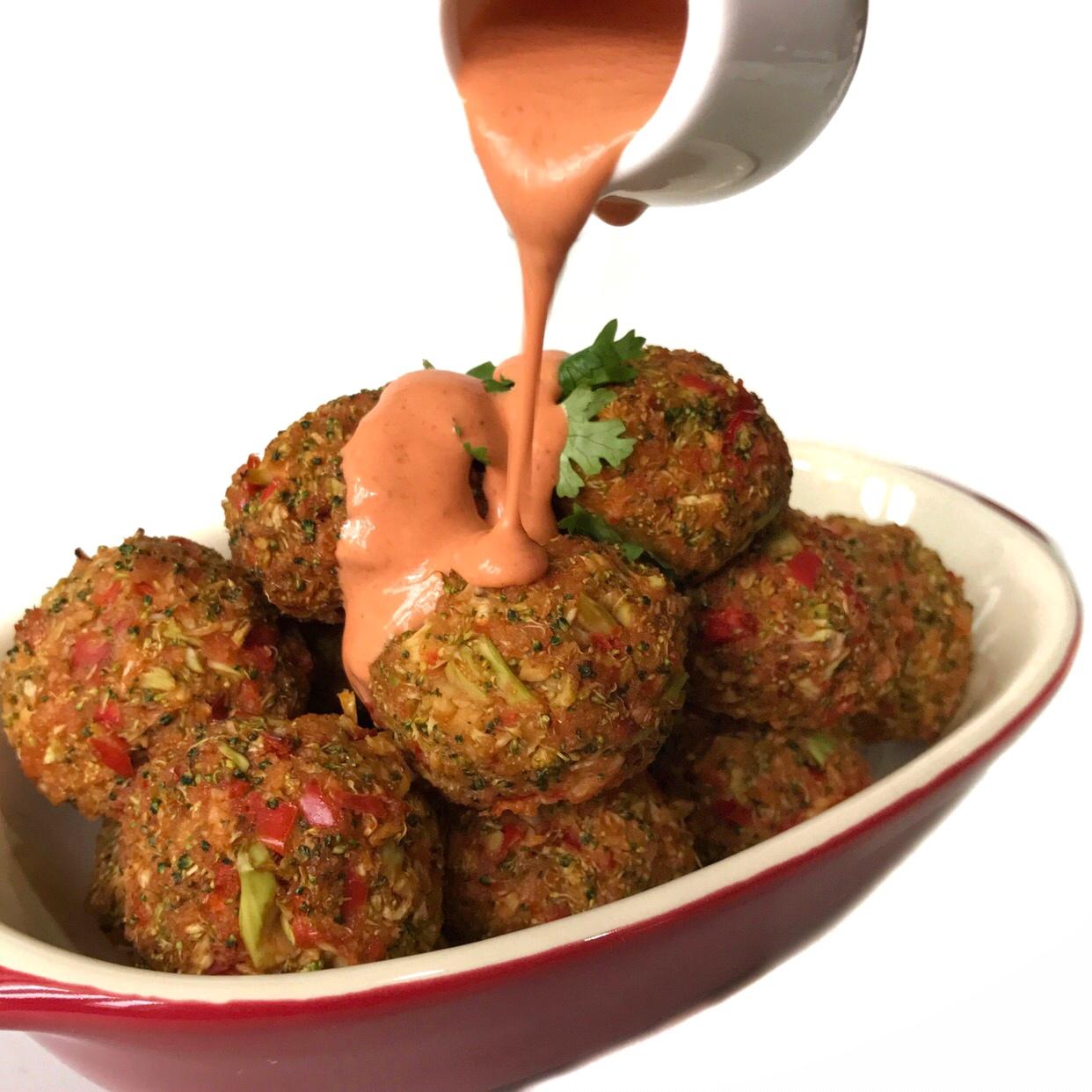 Healthy Veggie Sriracha Balls