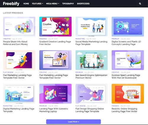 Download freebify premium blogger templates for free