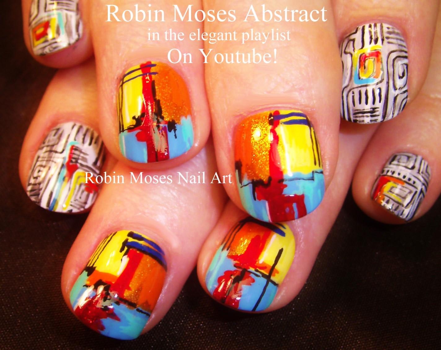 """Robin Moses Nail Art: Abstract Watercolor Nails! """"abstract ..."""