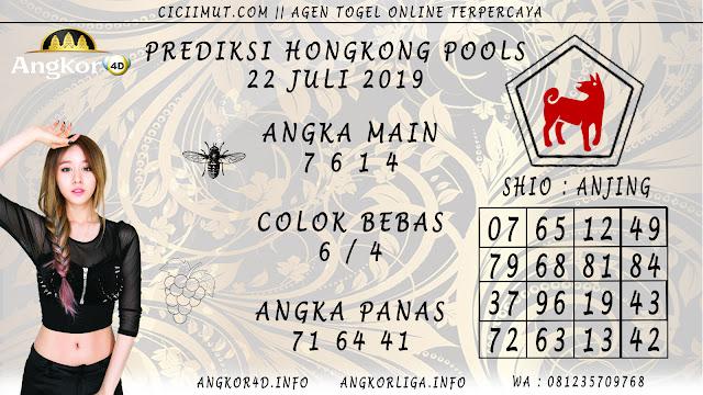 PREDIKSI HONGKONG POOLS 22 JULI 2019