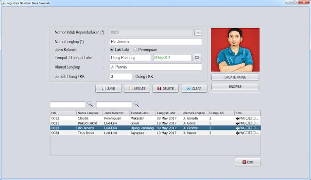 Form Registrasi Nasabah (Untuk Root dan Staf Administrasi)