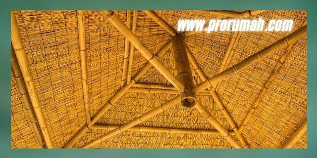 Interior  Rumah  Khas Sunda  MOdern - gunakan material bambu