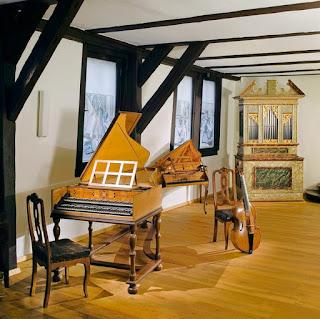 Interior de la casa museo de Bach en Eisenach.