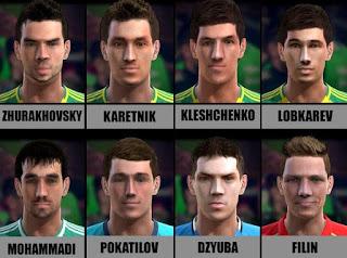 Faces: Dzyuba, Filin, Karetnik, Kleshchenko, Lobkarev, Mohammadi, Pokatilov, Zhurakhovsky, Pes 2013