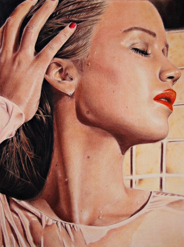 Jennifer Lawrence Color Pencil Drawing By Valentina Zou