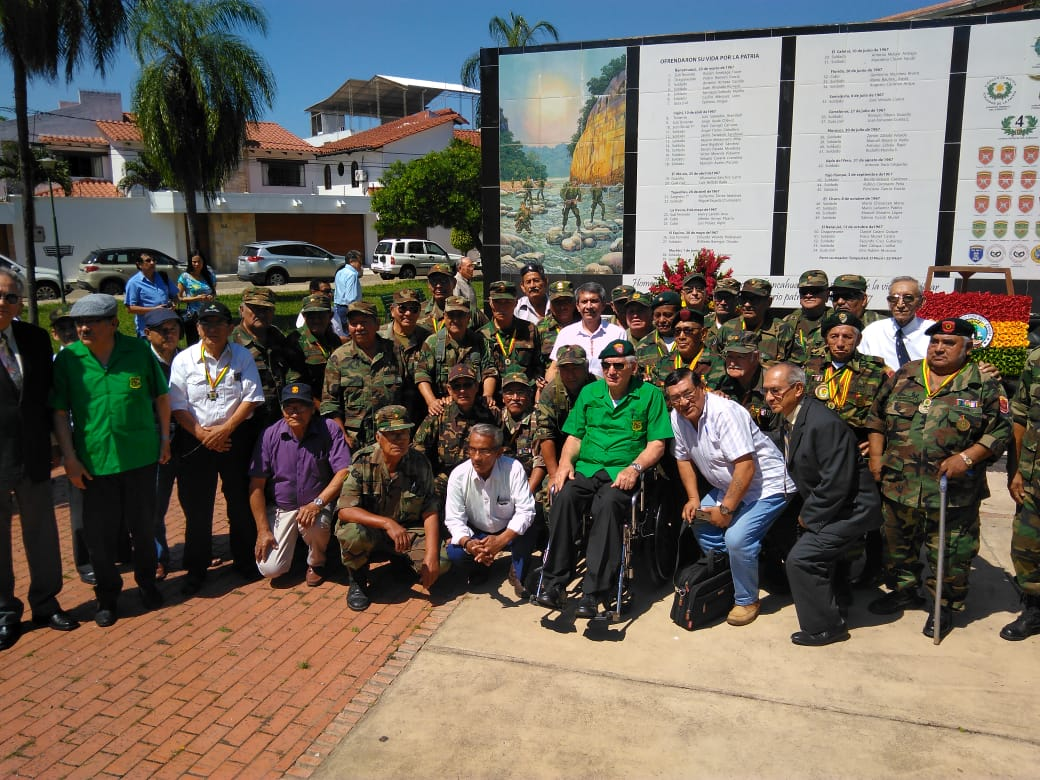 La mitad de los sobrevivientes de Ñancahuazú vive en Santa Cruz y recibió un homenaje este martes / RRSS