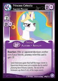 MLP Princess Celestia, Gambit Planner The Crystal Games CCG Card