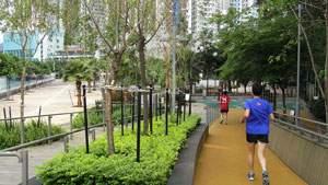 Olahraga Masyarakat Kota, olahraga di taman kota, jalur pejalan kaki