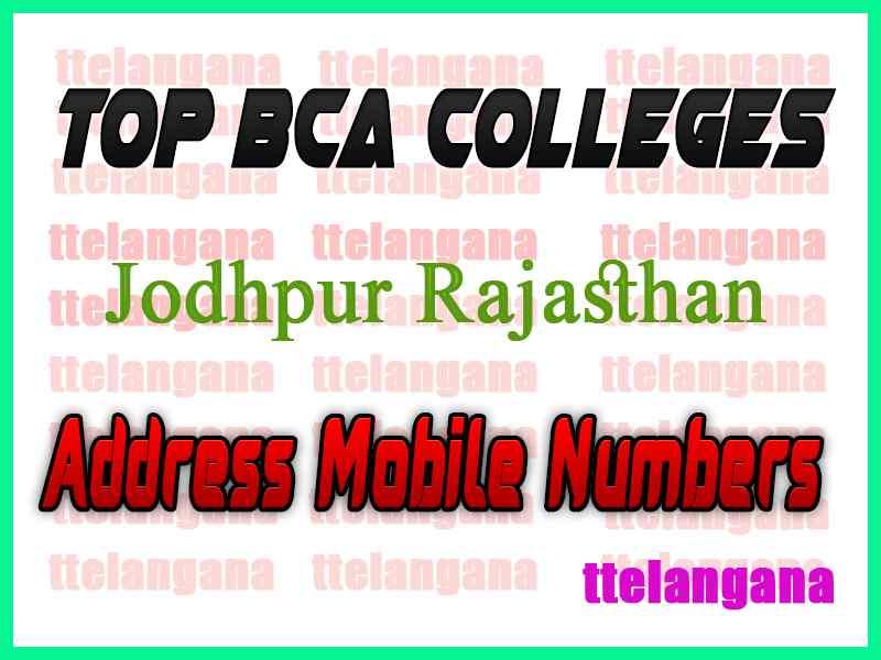Top BCA Colleges in Jodhpur Rajasthan