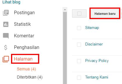 cara membuat sitemap keren bagus dan responsive di blogger tanpa edit html