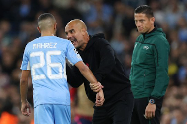Champions League: Guardiola explains why he screamed at Mahrez during Leipzig win