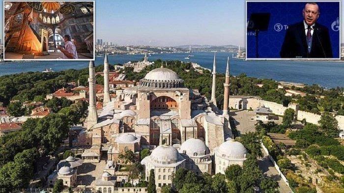 Presiden Turki Recep Tayyip Erdogen Kunjungi Hagia Sophia Usai Diubah Jadi Masjid