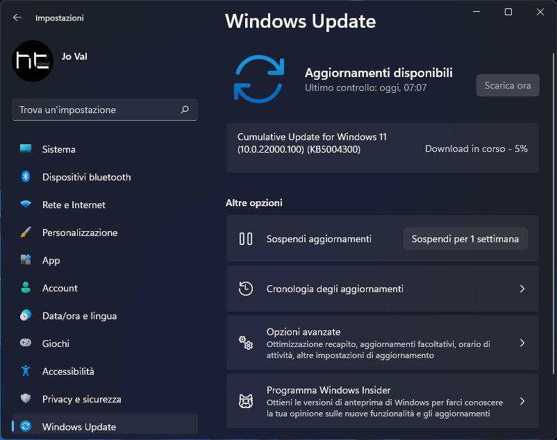 Download, installazione e novità di Windows 11 - Build 22000.100