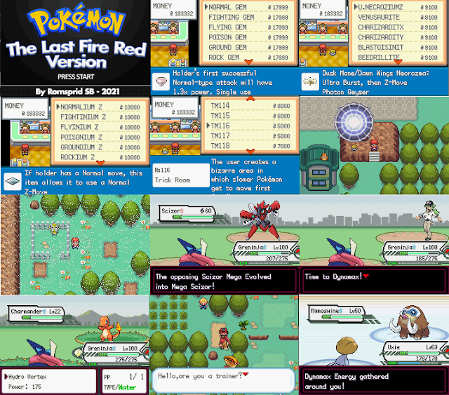 Pokemon The Last Fire Red gba rom hack