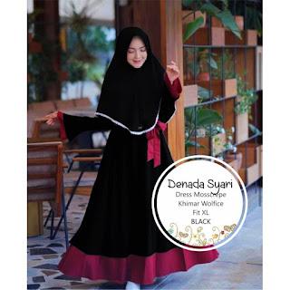 Jual Baju Busana Muslim Dress Denada Syari