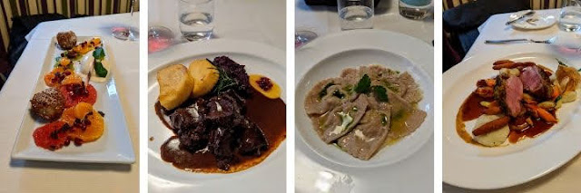 3 course lunch at Fink in Brixen, Italy