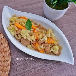 ResepTumis kembang kol wortel bakso Praktis Untuk Anak Yang Susah Makan Sayur